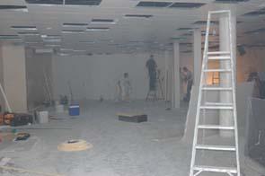 het interieur van koek verlichting dat al stevig wordt aangepakt fotos paul kriele 22 augustus 2006