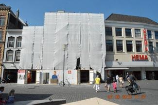 Pensmarkt: Nieuwe winkelpui Van Haren zit er al in Bastion