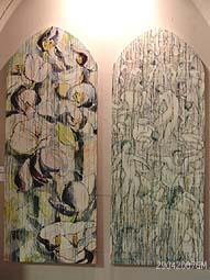 f4c00de1fee Boven: Kunstwerk van Gerard van Selst 'Zicht op Bosch'. Boven rechts: Ad  Verhagen Tuin der Lusten der tuinen.