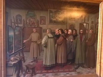 Schilderij 39 atelier van jeroen bosch 39 uitgeleend aan brugge bastion oranje den bosch - Schilderij van gang ...